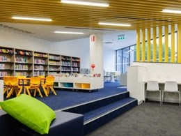 Au.diSlat ceiling panels providing acoustic control at Dulwich Hill community library