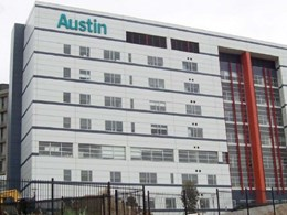 Ambience twin roller blinds reduce glare and enhance patient privacy at Austin Hospital