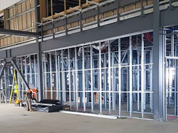 Prefabricated steel framing ensures speed and accuracy at Avalon airport terminal