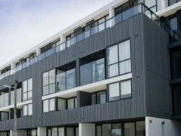 AxiLume slatted louvre system customised for Precinct Apartments to control sunlight