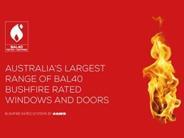 How correct selection of bushfire rated window and door systems ensures safety for the home