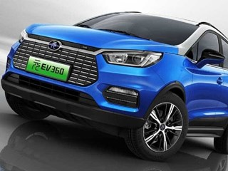 BYD's 2019 Yuan 360EV is an all-electric SUV available in China. Credit: BYD