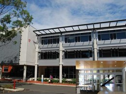 Fire rated glass sliding door installed at Bankstown Western Sydney University campus