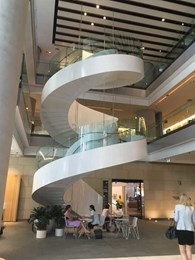 New Barangaroo tower features striking curved glass stair