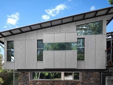 The rainforest home featuring Barestone cladding