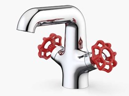 Dorf's new Industrie basin mixer designed to reflect new colour trend in tapware