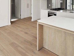 Fendi flooring matches earthy interior scheme of Lane Cove apartments