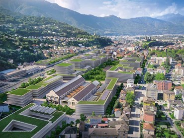 Sustainable regeneration plan for the industrial site in Bellinzona