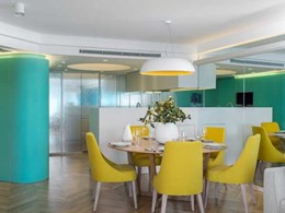 Custom coloured Marblo cladding panels feature in Bennelong apartment renovation