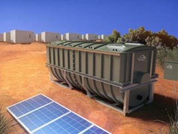 Kingspan's Modular BioDisc for wastewater treatment with solar backup