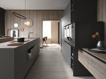 Blum Expando T thin front cabinets in kitchen interior