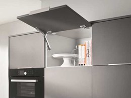 Blum's AVENTOS HK-XS compact stay lift for wall cabinets