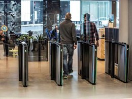 Boon Edam's entrance solutions securing compact workspaces