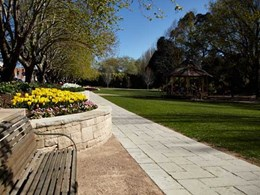 Boral pavers feature in landscaping upgrade at Moss Vale park