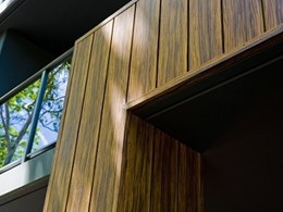 Stryum's intelligent aluminium façade in 32 woodgrain finishes