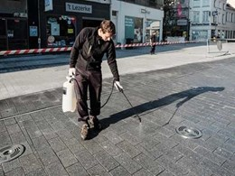 Dry-Treat products clean up and offer long term protection to Mechelen, Belgium street