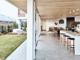 Glosswood timber lining connects indoors and outdoors at MBA-designed home