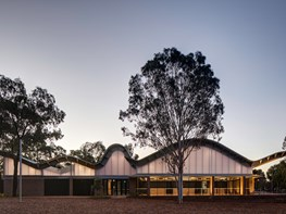 The neighbourhood centre with a signature serpentine roof