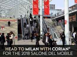 Corian proudly supporting exhibitors at 2018 Salone