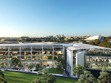 Cottee Parker JPRA has designed a $90 million project that will provide a combined total of 9,300sqm of retail and commercial space over two four-level towers in Alexandria, Sydney. Image: Supplied.