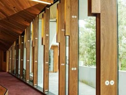 Blackbutt timber 'fins' blend perfectly with natural environment at University of Queensland Oral Health Facility