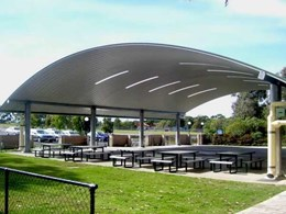 Spantech's multipurpose shade structure provides weatherproof cover at Calvary Christian College