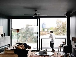 Former Melbourne warehouse fitted with large AWS windows to frame the view beautifully