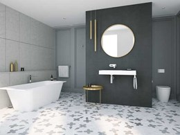 Caroma introduces new Sunstone solid surface collection for sophisticated bathrooms
