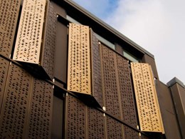 Decorative screens turn outdoor spaces into functional rooms at Auckland apartments