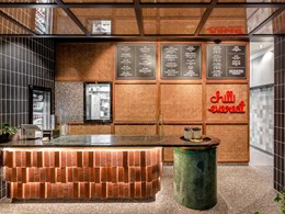 Brick lends earthy vibe to Nepalese restaurant at Melbourne Central