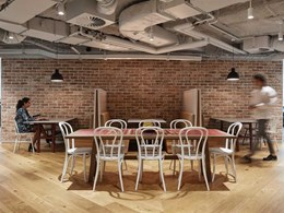 Engineered timber on floors and walls add depth and warmth to new Cisco Canberra HQ