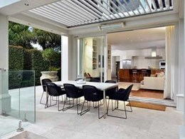 Balance indoor-outdoor living with a Louvretec opening roof system