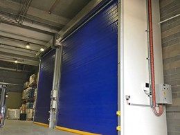 Coldsaver rapid roll doors provide space saving shield for chiller enclosures