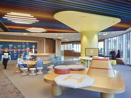 Unispace creates playful ceiling for Woodside Petroleum's family zone