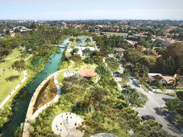 GreenWay Master Plan - Visualisation of the Hawthorn Canal Precinct.