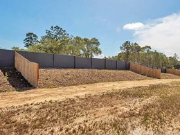 Modular wall offers effective noise barrier at Cooroy master planned community