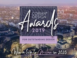 Entry open for Corian® Design Awards 2019 – Edition 1