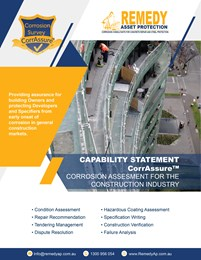 Capability statement: Corrosion assessment for the construction industry