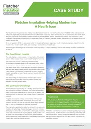 Royal Hobart Hospital case study: Thermal and acoustic insulation for ductwork