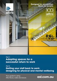 Returning to the workplace: Adapting the workspace for optimal hygiene, safety and mental wellbeing