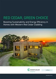 Red cedar, green choice: Boosting sustainability and energy efficiency in homes with Western Red Cedar cladding