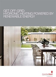 Get off-grid: Hydronic heating powered by renewable energy