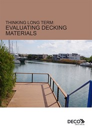 Specifying for durability and aesthetics in decking materials