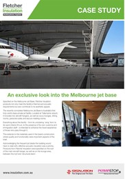 Melbourne Jet Base case study: Designing for aesthetics with roofing insulation