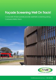 Sustainable composite timber screening solutions for all-weather conditions