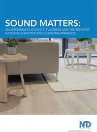 Sound matters: Understanding acoustic flooring and the relevant national construction code requirements