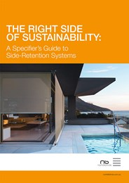The right side of sustainability: A specifier's guide to side-retention systems