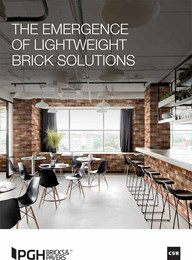 The emergence of lightweight brick solutions