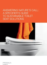 Answering nature's call: A specifier's guide to sustainable toilet seat solutions