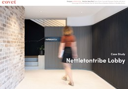 Nettleontribe Lobby: Specifying fast and simple solutions while achieving a impactful and dynamic design vision